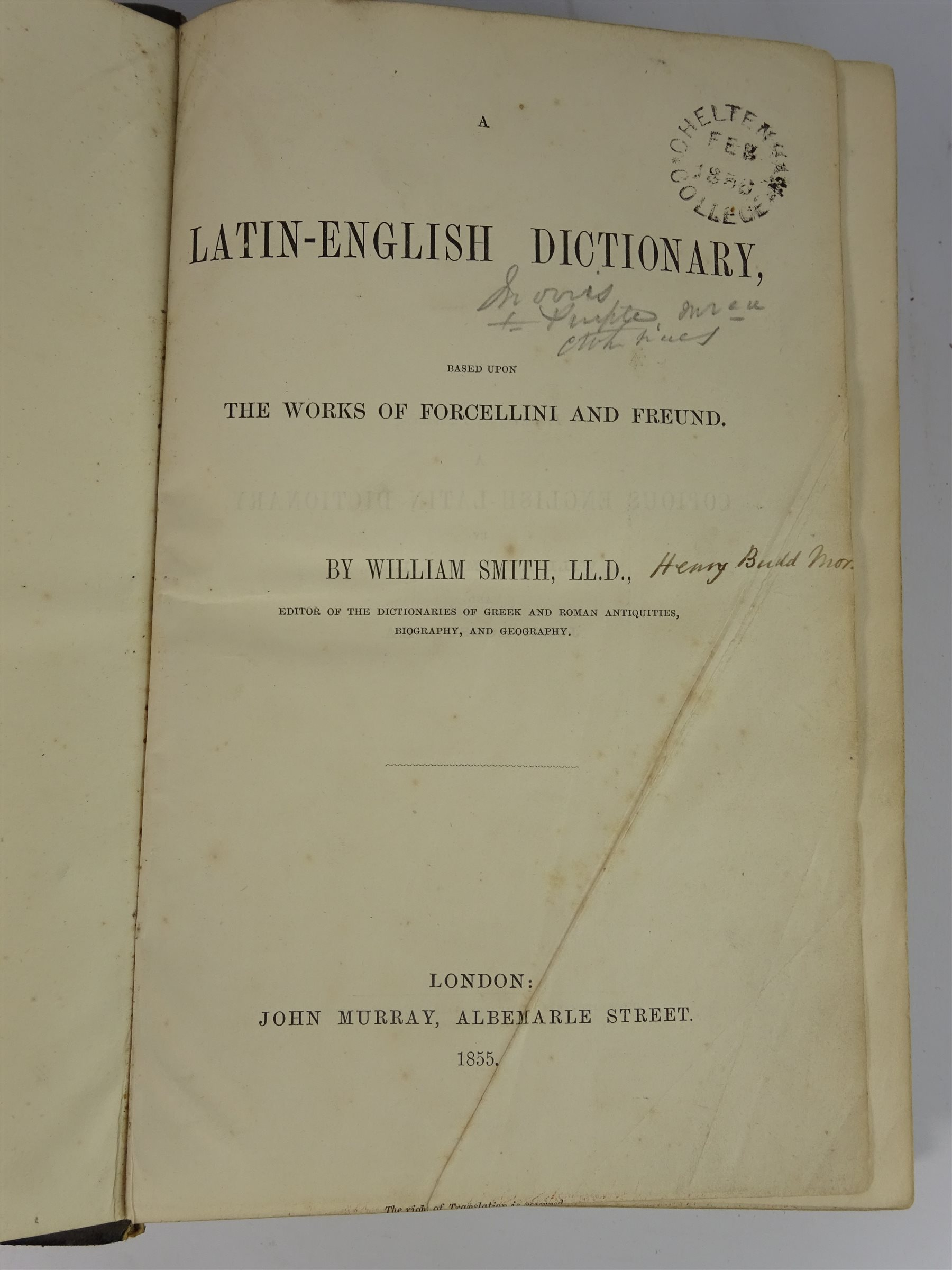 A Dictionary of Terms in Art by F W  Fairholt in full calf