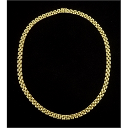 18ct gold link necklace stamped 750, approx 30.7gm