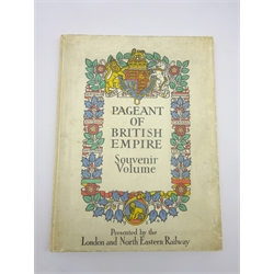 The Pageant of British Empire Souvenir Volume. 1924. Presented by the London and North Eastern Railway. Folding panorama and colour plates by Frank Brangwyn, Spencer Pryse and Macdonald Gill.