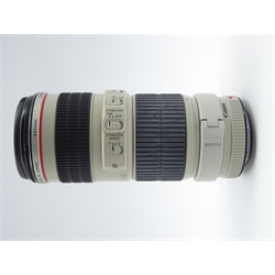 'CANON ZOOM LENS EF 70-200mm 1:4 L IS USM' telephoto zoom camera lens
