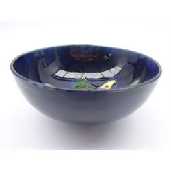 Moorcroft footed bowl decorated in the Orchid pattern, impressed marks, D11cm