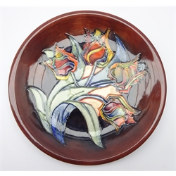 Moorcroft 'Tulip' pattern bowl by Sally Tuffin, c1993