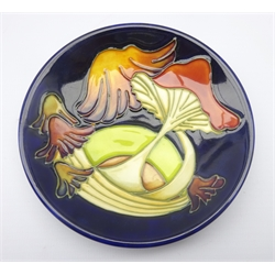 Moorcroft 'Parasol Dance' pattern coaster designed by Kerry Goodwin, 2005, D12cm, boxed