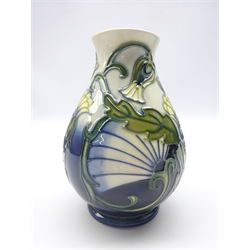 Moorcroft Special Events Rough Hawk's Beard vase designed by Rachel Bishop. This piece was commissioned exclusively to be available only at events worldwide where John Moorcroft made an appearance in 1997 signed in gold pen, boxed with certificate, H14cm