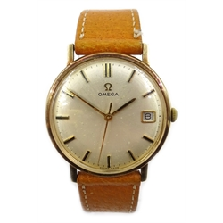 Gentleman's Omega 9ct gold wristwatch with date aperture, c.1965, in original case