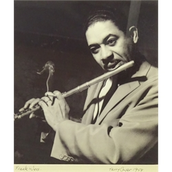 Terry Cryer (1934-2017)  'Frank Wess' 1958 gelatin silver print, signed, titled and dated in the margin 33 x 28cms