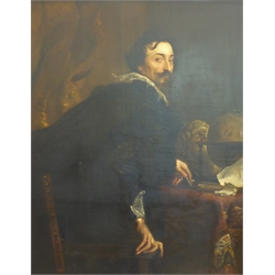 After Sir Anthony Van Dyck - Large Portrait of Lucas Van Uffel, oil on canvas, 19th Century after the original in The Metropolitan, New York 124 x 98cms