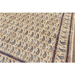 Large Persian Mood beige ground carpet, decorated with repeating Boteh motifs, 380cm x 300cm