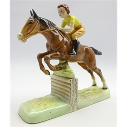Beswick Pottery figure of a Girl on a Jumping Horse no. 939, H25cm