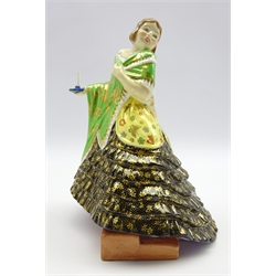 Plant Tuscan china Art Deco figure - 'Slumber Time' No 123 H22cms