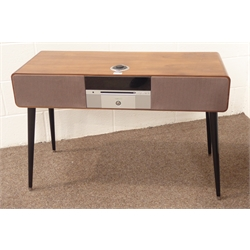 Ruark audio R7 Mark II walnut cased radiogram, specifications including CD player, aux input, DAB/DAB+/FM/internet radio, Wi-Fi, Bluetooth, Radio remote control and removable legs, W100cm, H66cm, D40cm