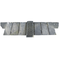 York stone Baroque style over door mantle, W161cm
