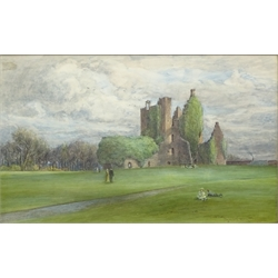 John Smart (British 1838-1899): Scottish Castle Ruins, watercolour signed and dated 1890, 45cm x 74cm