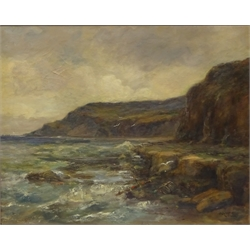 James Ulric Walmsley (British 1860-1954): Robin Hood's Bay, oil on canvas signed and dated 1911, 60cm x 75cm