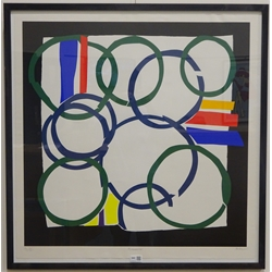 Sandra Blow RA (British 1925-2006): 'Borderline', artist's proof silkscreen print signed, titled and numbered 4/13 in pencil 80cm x 80cm DDS - Artist's resale rights may apply to this lot
