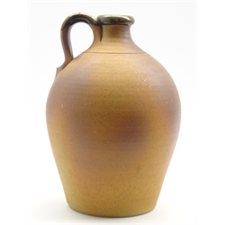 John Leach (b1939) A Muchelney studio pottery flagon with loop handle H38cm