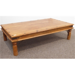 Awesome Mexican Pine Rectangular Coffee Table Plank Top With Short Links Chair Design For Home Short Linksinfo