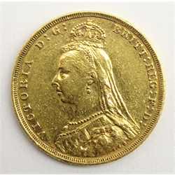 Queen Victoria 1888 gold full sovereign