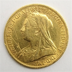 Queen Victoria 1900 gold half sovereign