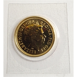 Queen Elizabeth II 2004 gold half sovereign