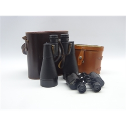 Ross London 13x60 ENBEECO binoculars and Colmont Paris Aviator 8x30 Lightweight binoculars, both cased