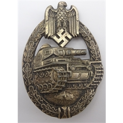 WW2 German Tank Battle Badge marked R.S. for Robert Souval
