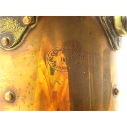 WW2 period ship's copper and brass port light impressed Alderson and Gyde Ltd. Birmingham dated 1943, bears label 'Bow Port Patt.23', electrically powered, H41cm excluding swing handle