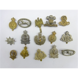 Fifteen Yeomanry cap badges including Surrey, Bedford, Dorset, Shropshire, Derbyshire, Caernarvon & Denbigh etc, all thought to be restrikes