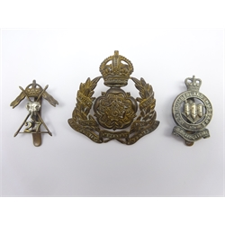 Three cavalry cap badges - Derbyshire Yeomanry, Northumberland Hussars and 27th Lancers