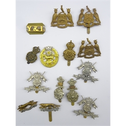 Fourteen military badges of Yorkshire interest including Leeds Pals, Yorkshire Yeomanry, Yorkshire Hussars etc, all thought to be restrikes