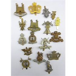 Seventeen cap badges comprising nine Hussars, four Lancers and four Dragoons including Royal Suffolk, Queens Own, Royal Hussars etc,25th Dragoons, 22nd Dragoons, 21st Lancers, 9th lancers etc, all thought to be restrikes
