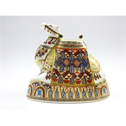 Royal Crown Derby camel paperweight with gold stopper