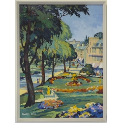 Kenneth Steel (British 1906-1973): 'Harrogate', heavy oil impasto on board signed 78cm x 58cm  Notes: this is the original artwork for the Railway Poster produced in 1953 for British Railways (BR) North Eastern Region, to promote rail travel to the popular North Yorkshire spa town of Harrogate