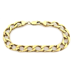 9ct gold curb link bracelet, hallmarked, approx 26.1gm