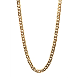 Rose gold flattened curb chain necklace, hallmarked 9ct, approx 19.9gm
