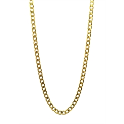 18ct gold flattened curb chain necklace, stamped 750, approx 18.4gm