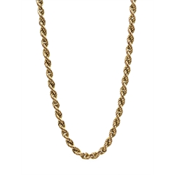 9ct gold rope chain necklace hallmarked, approx 6.6gm