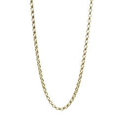 9ct gold belcher chain necklace hallmarked, approx 11.6gm