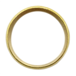 22ct gold wedding band, hallmarked, approx 7.9gm
