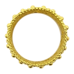 Ethiopian 22ct gold (tested) filigree design ring, approx 8.9gm