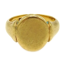 18ct gold signet ring, Birmingham 1926, approx 7.2gm