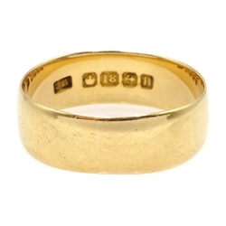 18ct gold wedding band, Birmingham 1912, approx 5.6gm