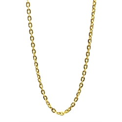 9ct gold link necklace stamped 375, approx 5.6gm