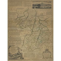 Emmanuel Bowen - 18th Century map of Cambridgeshire 72cm x 55cm
