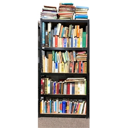 **WITHDRAWN** Quantity of books including furniture reference, 'Webster's Wine Price Guide,' various paperback novels, etc