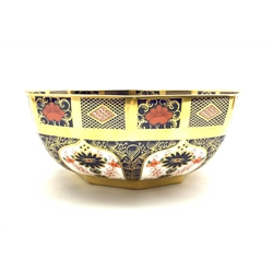 Royal Crown Derby Imari 1128 pattern bowl, diameter 21cm, mark scratched through