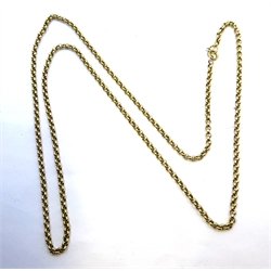 9ct gold cable chain link necklace stamped 375, approx 8.54gm