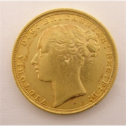 Queen Victoria 1884 gold full sovereign, Sydney mintmark