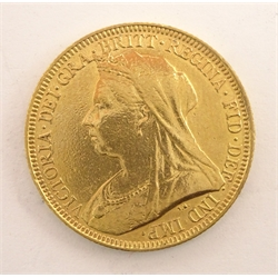 Queen Victoria 1893 gold full sovereign