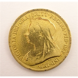 Queen Victoria 1893 gold half sovereign